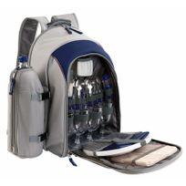 BE NOMAD - sac à dos picnic isotherme.4 personnes bleu/gris - se970b