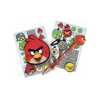Angry Bird - s - Lot papeterie Stylo Stickers Badges Carnet