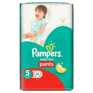 Pampers baby dry pants couches taille 5 junior 12 18 kg x for Pampers couche piscine