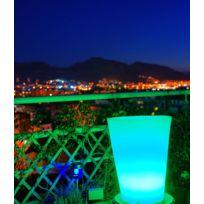 Dedans Dehors - Vase lumineux conique multicolore plusieurs hauteurs dispo