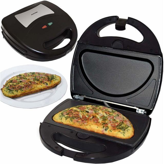 Syntrox Germany Fabricant d'omelettes Chefmaker avec plaques de cuisson échangeables Sm-1300W