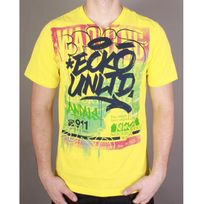 Ecko - Tshirt Warning Signs jaune