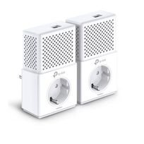 TL-PA7010P KIT Pack de 2 Adaptateurs CPL avec prise intégrée