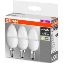 Osram - Lot de 3 ampoules Led flamme 5,3W E14