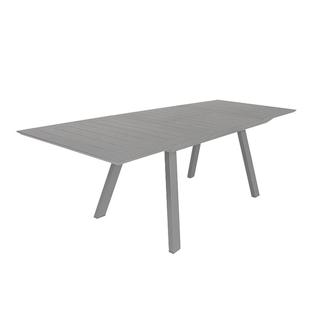 Table extensible en alu gris 160/240 x 90 cm Ofanto