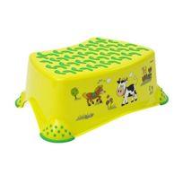 Okt - Marchepied Tabouret Plate Forme Pour Les Enfant Antiglisse Happy Farm Vert Clair