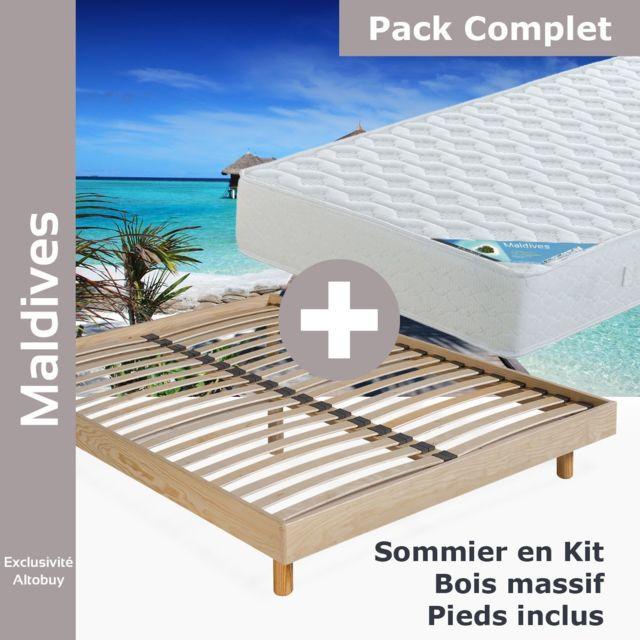 Altobuy Maldives Pack Matelas Neokit Naturel 160x200 Pas
