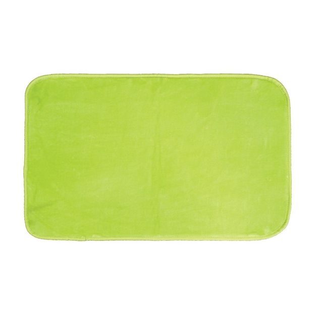 Decoline Tapis rectangle velours uni Vert 50 x 80 cm