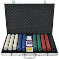 Vidaxl - Jeu de poker avec 1000 jetons Aluminium