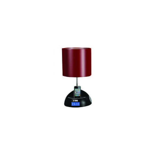 mecer lampe de chevet iphone 4 rouge pas cher achat vente station d 39 accueil smartphone. Black Bedroom Furniture Sets. Home Design Ideas