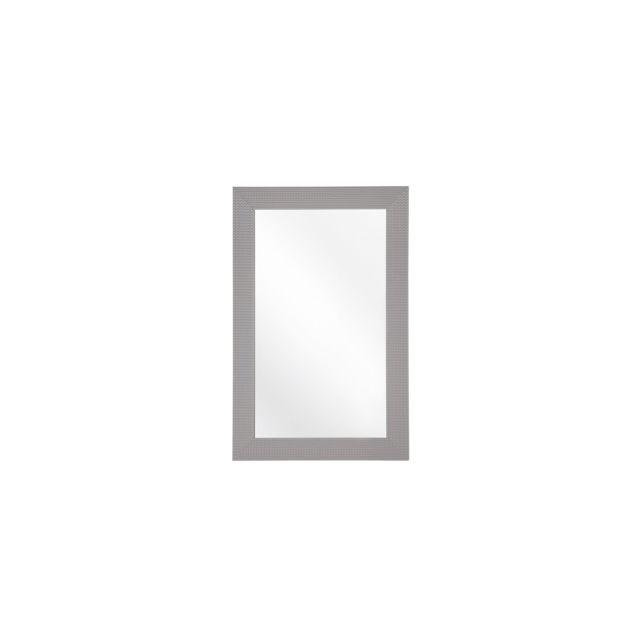 BELIANI Miroir gris 60 x 90 cm LELAVANDOU - gris
