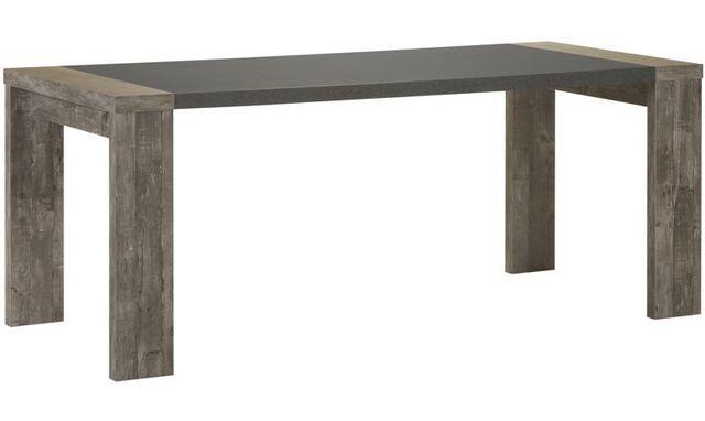 Comforium Table rustique et contemporaine 190-240 cm coloris chêne ancien