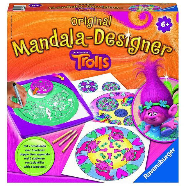Ravensburger - Mandala Designer Original 2 en 1 : Les Trolls