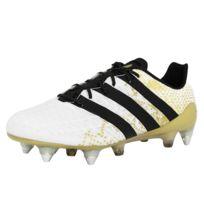 Adidas performance - Ace 16.1 Sg Chaussures de Football Homme Blanc Noir Jaune Sprintframe