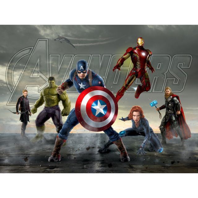 Bebe Gavroche Papier Peint Xxl Captain America Et Les Avengers