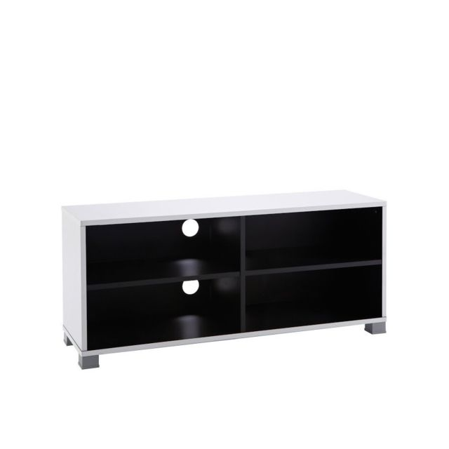 Rocambolesk Banc Tv 101cm Grafit Noirblanc 453218 Noir Blanc