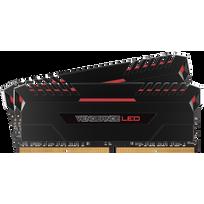 DDR4 Vengeance Black – 32 Go 2X 16 Go, 3000 MHz CAS 15 - led rouge - 1.35V