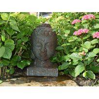 Ubbink - Fontaine de jardin Lasa tête de Bouddha avec éclairage Led