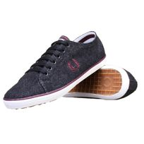 Fredperry - Basket Fred Perry Kingston Tweed 491 Charcoal