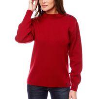 Dalmard Marine - Pull marin en laine Couleur - rouge, Taille Femme - 44 13e9da77f485