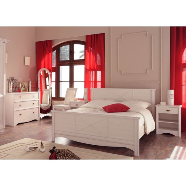 Last Meubles Ensemble Marie lit + chevet + commode