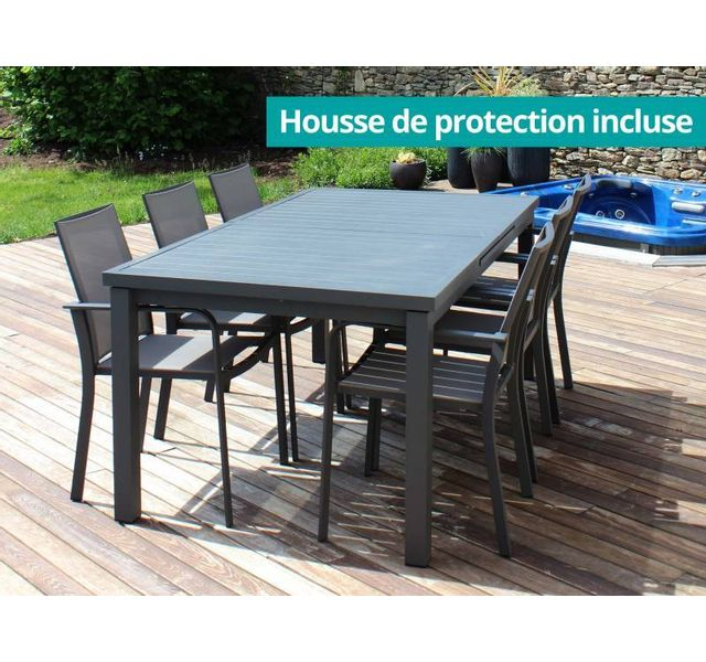 RESIDENCE - Salon de jardin CORDOBA - fauteuils Textilène® - Couleur ...