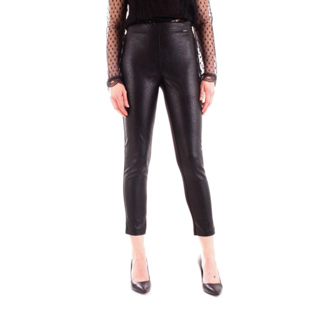 Fracomina Femme Fr19FP153BLACK Noir Viscose Leggings