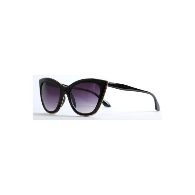aca208c1a4ab7a Magiccustom - Magic Custom - Lunettes de soleil yeux de chat contour or  Sm0088-1528