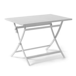 gecko jardin table pliante rectangulaire en alu blanc 110 x 70 cm grace 70cm x 75cm x 110cm. Black Bedroom Furniture Sets. Home Design Ideas