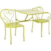 ESSCHERT DESIGN - Banc de jardin convertible en table + chaises Classique