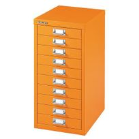 Bisley - Classeur Multidrawer orange - 10 tiroirs