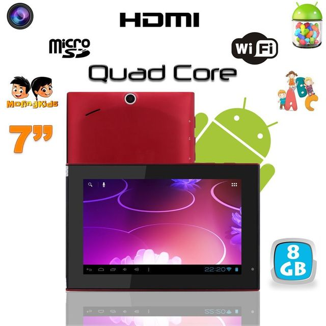 Yonis Tablette tactile Android 4.1 7 pouces Quad Core éducative Wifi 8 Go