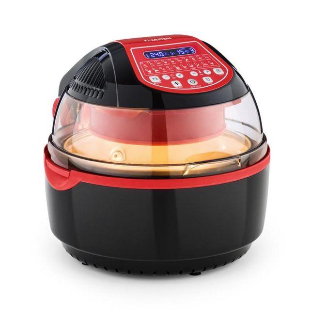 klarstein vitair turbo smart friteuse air chaud 10l 20 programmes 1400w rouge achat friteuse. Black Bedroom Furniture Sets. Home Design Ideas