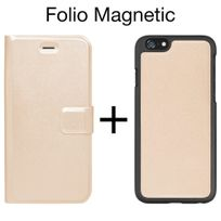 Moxie - Etui Folio 2 parties détachables Coque + Folio pour iPhone 6s coloris gold