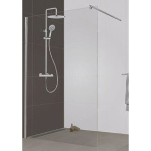 leda paroi de douche l 39 italienne open 2 verre transparent 120 cm pas cher achat. Black Bedroom Furniture Sets. Home Design Ideas