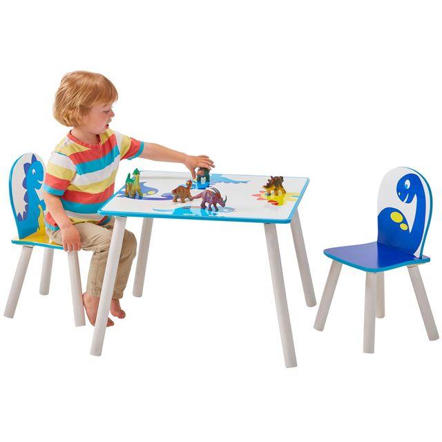 Worlds Apart Ensemble table et 2 chaises Garçon Dinosaure