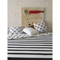 Sisomdos - Housse de couette Paris 140x200 cm noir et blanc