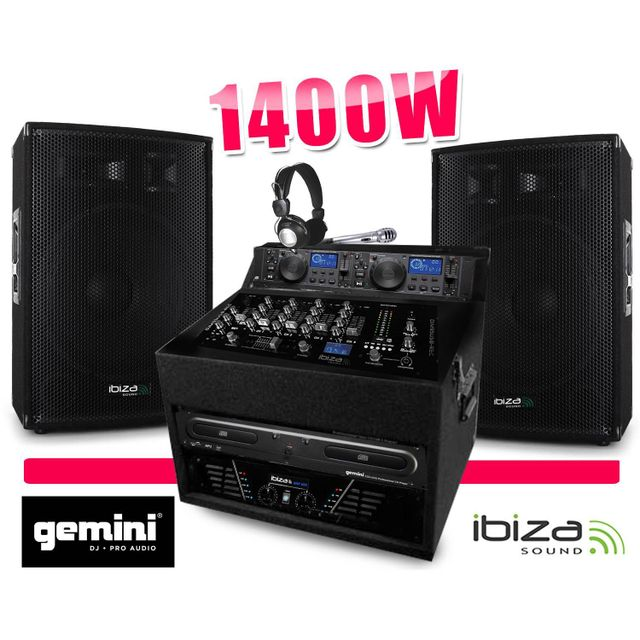 Gemini Sono Totale 1400W Cd Ampli Enceinte Mixage Regie