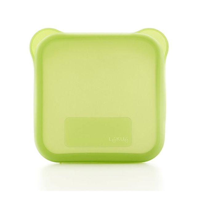 LEKUE etui à sandwich carré vert - 3401700v09u008