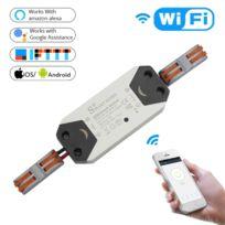 Maison Connectée Diy WiFi Smart Light Switch Minuterie Universelle Breaker  Télécommande sans fil Fonctionne avec Alexa Google Home Smart Automation