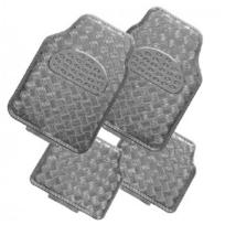 Peraline - Tapis de sol voiture alu avec effet carbone