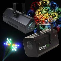 Ibiza Light - Pack soirée 2 Jeux de lumière Effet MoonFlower Gobo Lcm002 + Jeu 56 Leds Rvba noir Lcm003