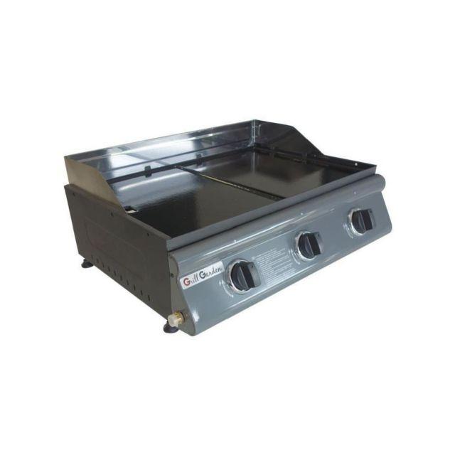 grill garden plancha gaz avec plaque fonte amovible 3 feux pas cher achat vente plancha. Black Bedroom Furniture Sets. Home Design Ideas
