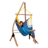 La Siesta - Chaise-Hamac Basic Sonrisa prune + Support en bois Vela