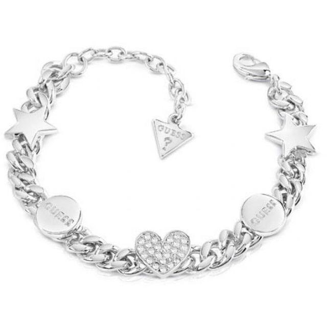 398781183480 Guess - Bracelet Ubb84075 - Bracelet Cristaux Métal Argent Femme Nc ...