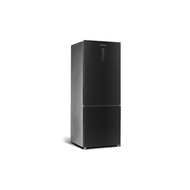 SCHNEIDER SCWCB430NFBS - Refrigerateur combine - 432 L 324 + 108 L - Froid no frost - A++ - L 70,3 x H 185 cm - Black steel