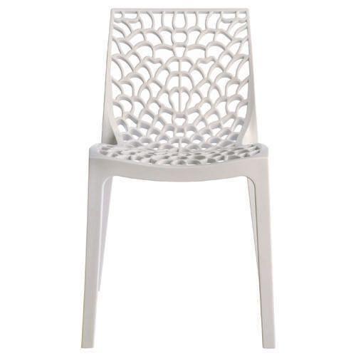 No Name - Chaise design blanche Gruyer Opaque Vendu à l'unité