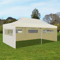 Vida - Tente de réception pliable crème 3 x 6 m
