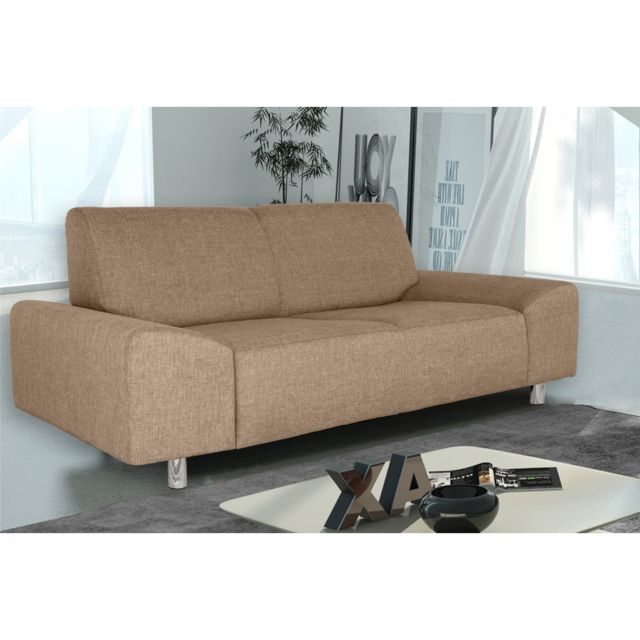 Rocambolesk Canapé Quick 2 savana 25 brun+pieds chrom sofa divan