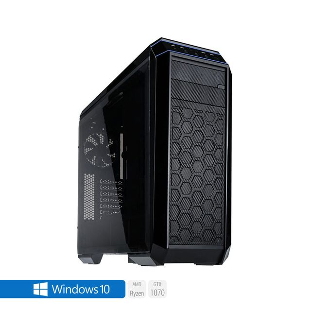 SEDATECH PC Gamer, AMD Ryzen 5, GTX 1070, 1 To SSD, 3 To HDD, 64Go RAM, Win 10. Ref: UCM6120I4I1HF